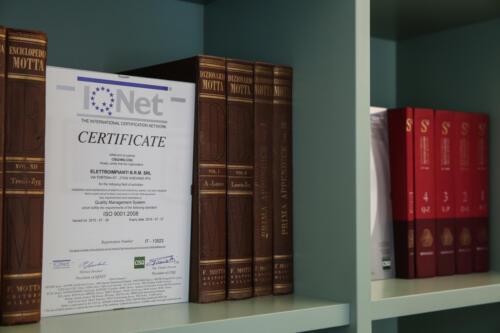 Certificazione ISO 9001:2008 - Elettroimpianti B.R.M.